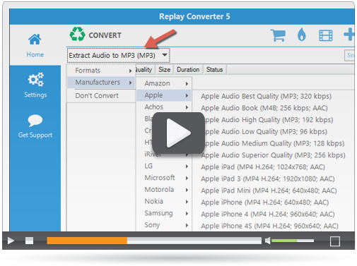 Replay Converter 5: Convert Video and Audio Files on your PC