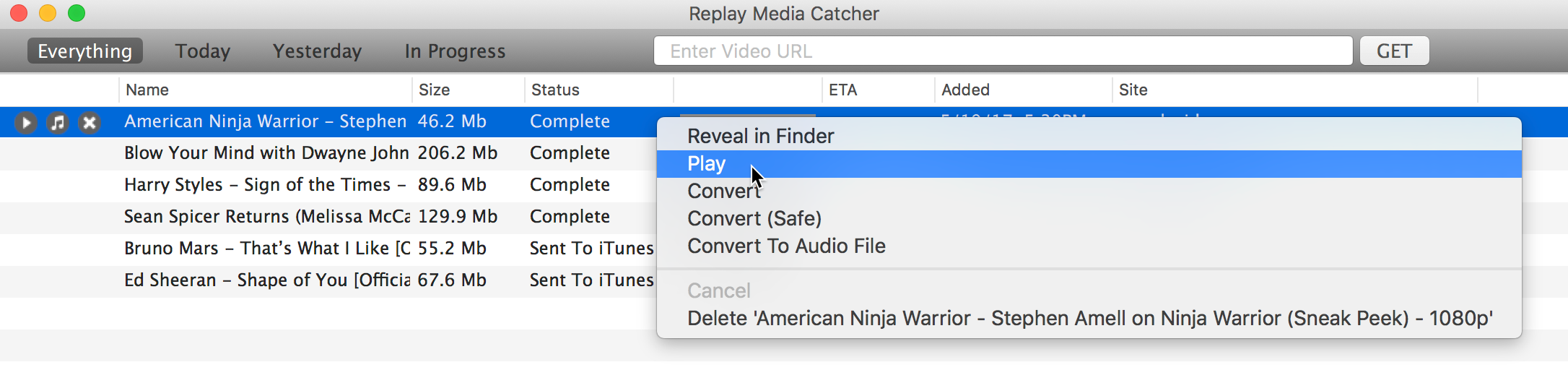 Replay Media Catcher for Mac ver 2 User Guide : Applian