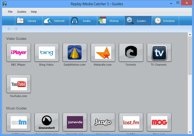 Screenshot: Replay Media Catcher