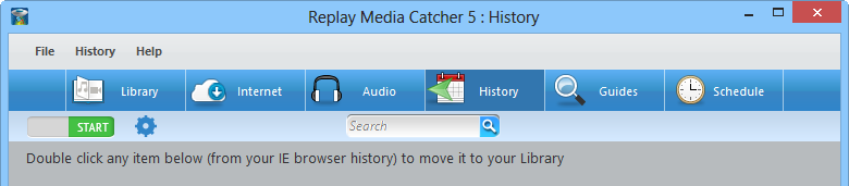 Screenshot: Main windows of Replay Media Catcher