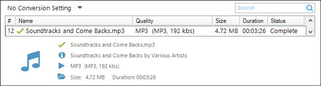 Replay Media Catcher Home tab file listing