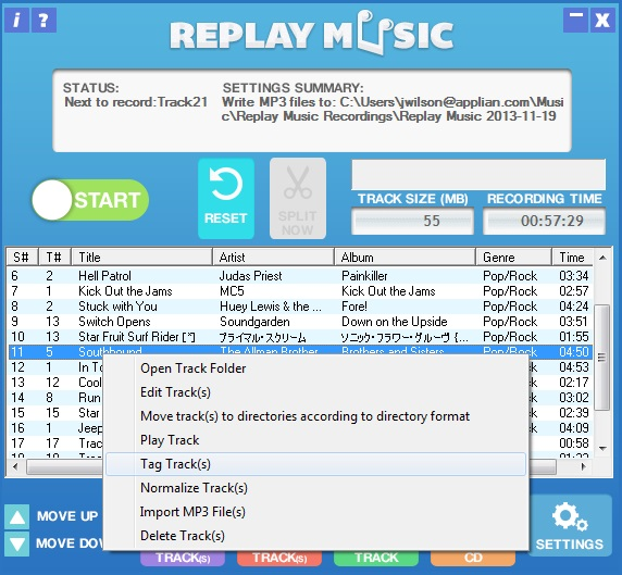 Replay Music 6: Tag tracks