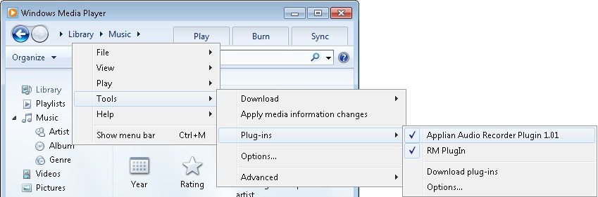 windows media plugin