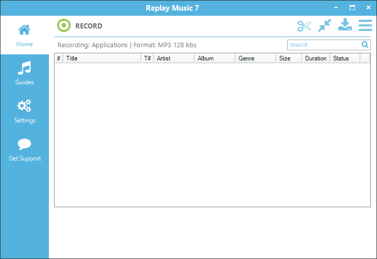 Replay Music 7 Interface