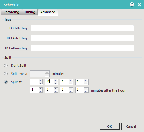 Replay Radio 9 Scheduler Advanced Tab