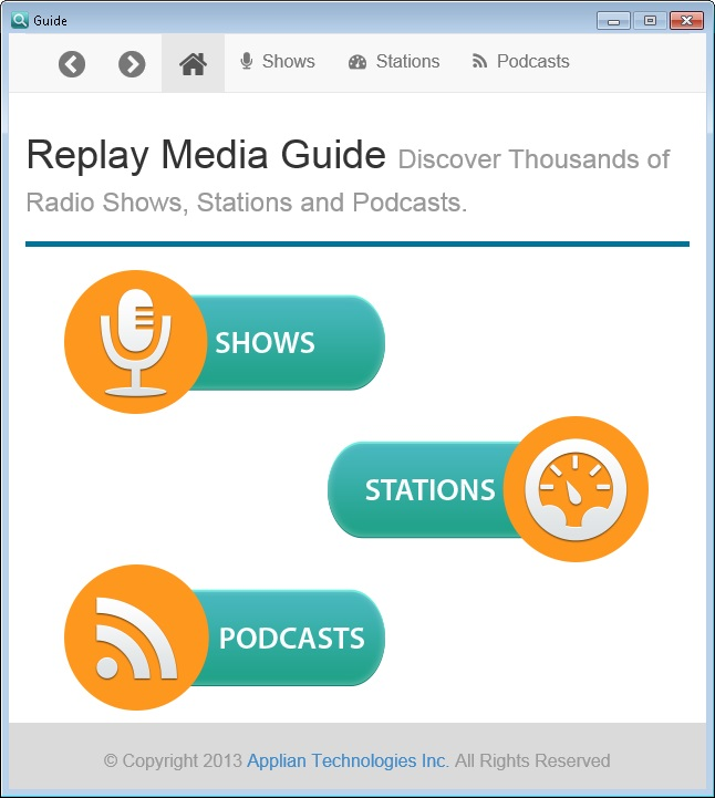 Replay Media Guide for Replay Radio 9