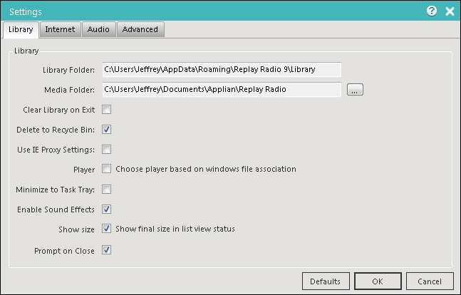 Replay Radio User Guide