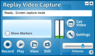 Main Replay Video Capture User Guide interface