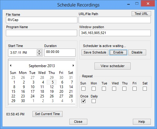 Replay Video Capture Scheduler