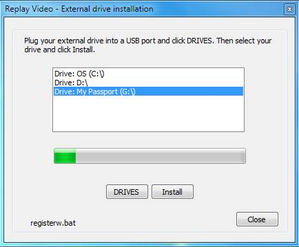 Replay Video Capture Thumb Drive Setup
