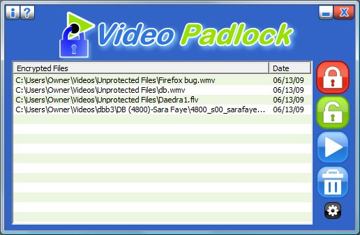 Video Padlock interface